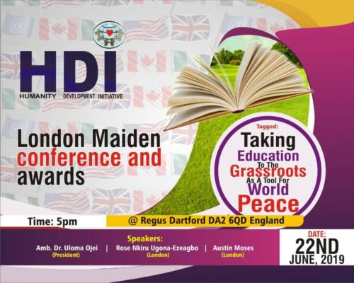HDI London Maiden Conference June 22nd 2019